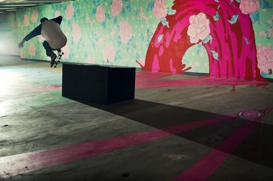 Skateboarder : Kastumi Minami(Evisen skateboards ゑ) / Wallie / Photo by Shinsaku Arakawa